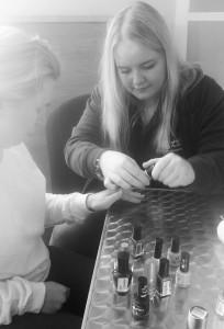 Enjoying a manicure - pamper time