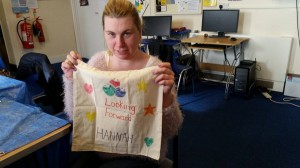 Our member enjoyed designing her own bag!